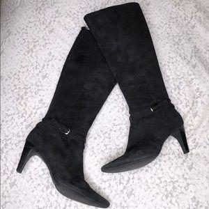 Joan & David Black Knee-High Boots, Size 8.5